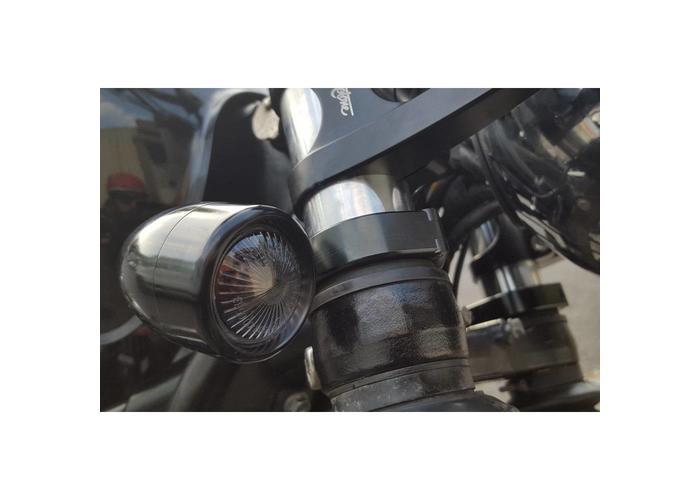 Motone 41mm Voorvork Klemmen Knipperlicht Zwart