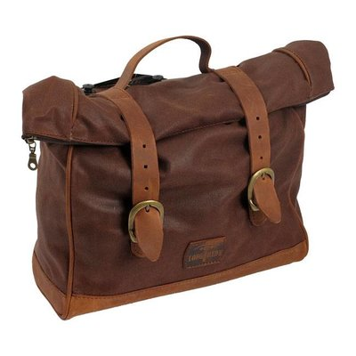 Longride Single Side Saddlebag Waxed Cotton Marron Brown