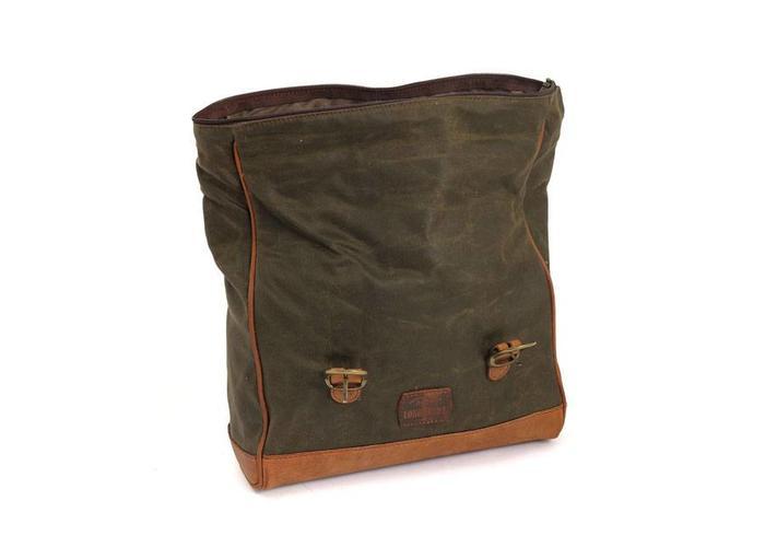 Longride Single Side Saddlebag Waxed Cotton Khaki
