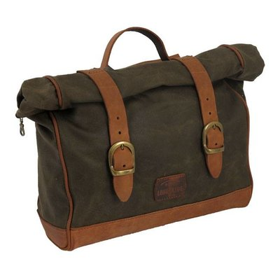 Longride Single Side Saddlebag Waxed Cotton Khaki