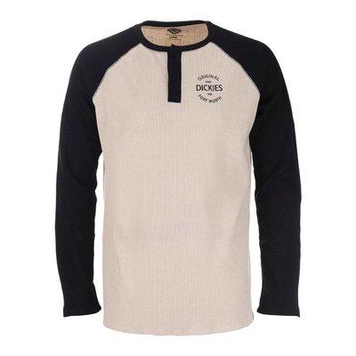 Dickies Gridley Raglan Waffle Shirt, Black