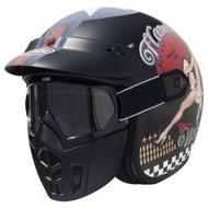 Premier Vintage Mask Jethelm Pin Up 9 BM