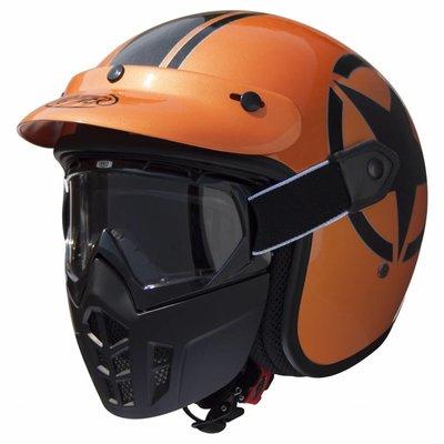 Premier Vintage Mask Star Metallic Orange