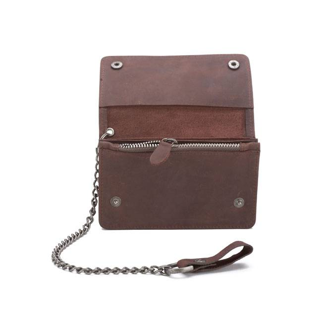 Dickies deedsville leather wallet for Yamaha leather wallet