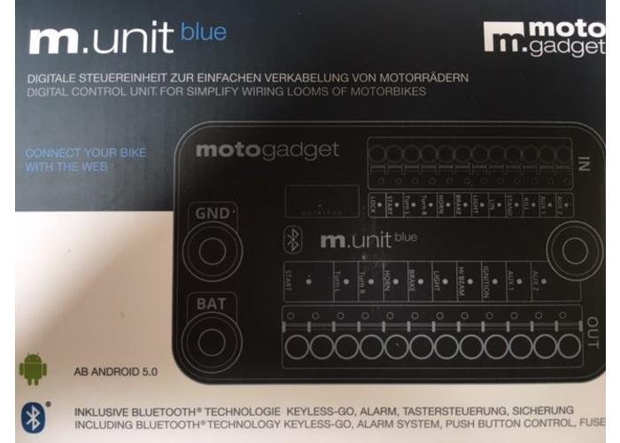 Motogadget M-Unit Blue - Met Smartphone App (NIEUW!!)