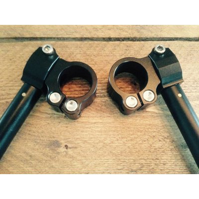 22MM Verstelbare Clipons CNC Zwart (Veel Maten)