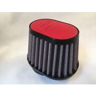 DNA 44MM Ovaal Filter Lederen Top Rood