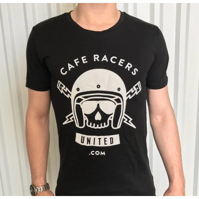 Motorcycles United Cafe Racers United Skull T-Shirt
