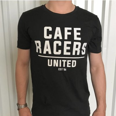 Motorcycles United Cafe Racers United Text T-shirt