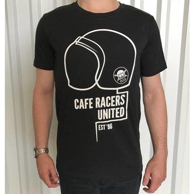 Motorcycles United Cafe Racers United Helmet T-shirt