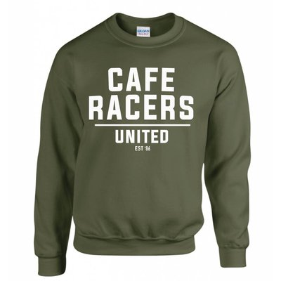 Motorcycles United Cafe Racers United Sweater - Military