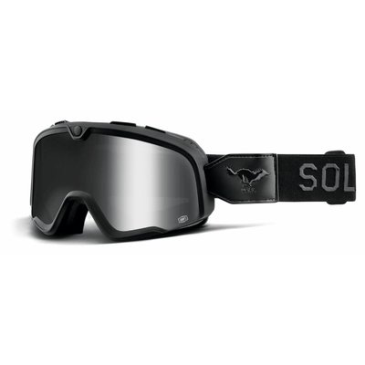 100% The Barstow Solitario Silver Goggle