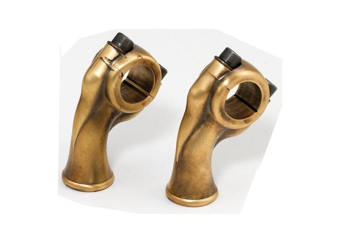 """Kustom Tech 2.5"""" Brass Deluxe Risers voor 1"""" Sturen"""