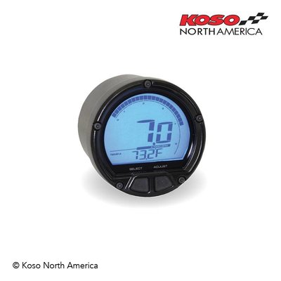 KOSO D55 DL-02R Tachometer/Thermometer (LCD Display, 20000 RPM)