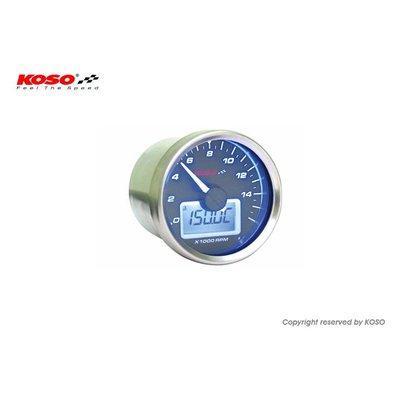 KOSO D55 GP Style Tachometer/Thermometer (max. 9000 RPM black)