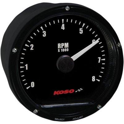 KOSO D75 Toerenteller Black face 8000 RPM