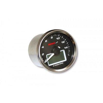 KOSO D55 GP Style Tachometer/Thermometer (max 16000 RPM black)