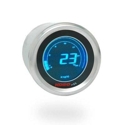 KOSO (max 250°C) D48 Thermometer (Zwart LCD - Blauw)
