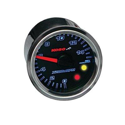KOSO (max 15000 RPM) GP Style D48 Toerenteller, Black