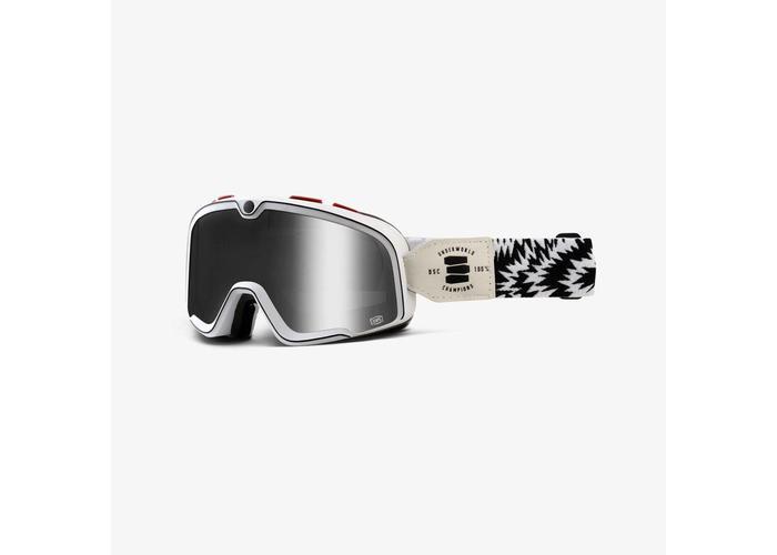 100% Barstow Death Spray Custom Bril - Spiegel Zilver Vizier