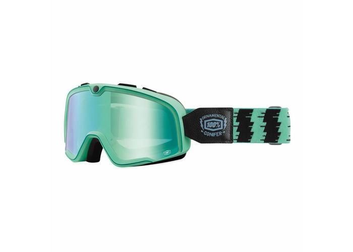 100% Barstow Ornamental Conifer Custom Goggles - Mirror Green Lens