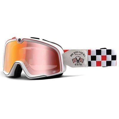 100% Barstow OSFA Custom Goggles - Mirror Red Lens
