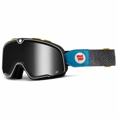 100% Barstow Deus Ex Machina Custom Goggles - Mirror Silver Lens