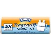 Swirl pedaalemmerzakken met handvatten antibact.20ltr 20 stuks