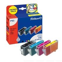 Pelikan 02 - Inktcartridge / Zwart / Cyaan / Magenta / Geel