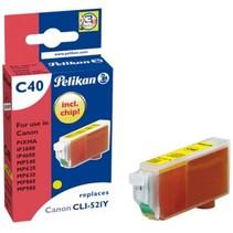 Pelikan C40 CLI-521Y - Inktcartridge / Geel