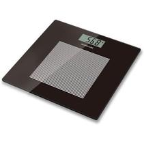 Digitale weegschaal badkamer | weegt tot 180 kilo | personenweegschaal | LCD display | precisie weegschaal in zwart | glazen design | tot 100 gram nauwkeurig | slank ontwerp