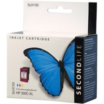SecondLife vervangende inkt cartridge kleur voor HP type HP 300