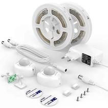 Bed LED verlichting- 2 stuks LED strip met 2  bewegingssensoren - Wit - Avrena