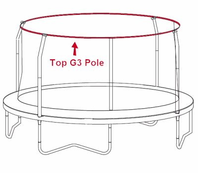 G3-stok boven voor JumpPOD Classic/Deluxe 430