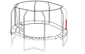 Onderpaal net voor JumpPOD Oval 350