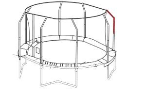Bovenpaal net voor JumpPOD Oval 350