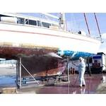Verf en antifouling polyester boot of schip
