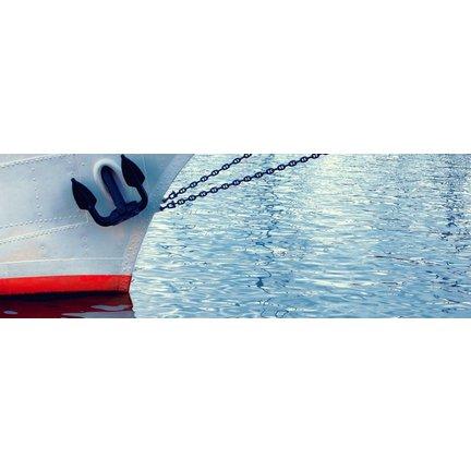 Verf en antifoulling stalen boot