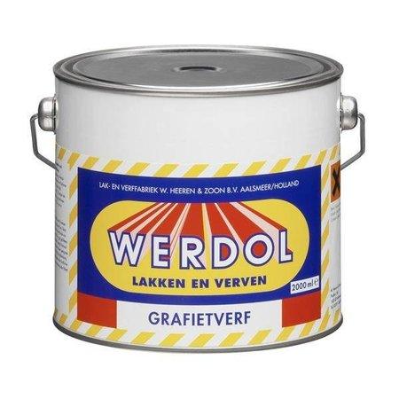 Werdol Grafietverf donkergrijs