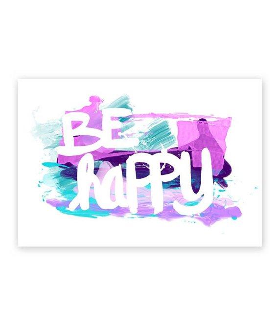 Postkarte * Be happy *
