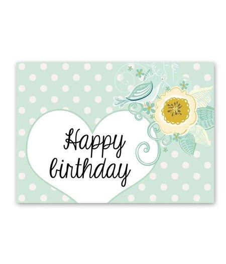 5 St. Postkarten *Happy Birthday*