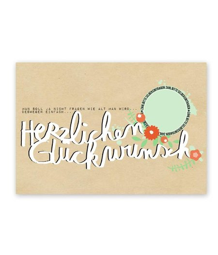 Postkarte * Herzlichen Glückwunsch*