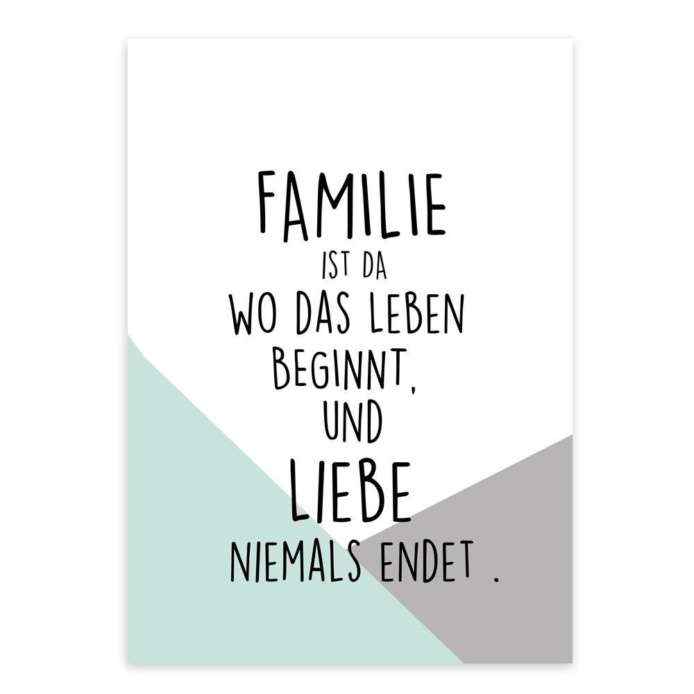 A4 artprint kunstdruck familie janoschdesigns for Minimalistisch leben mit familie