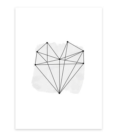 A4 Artprint Grafik Herz