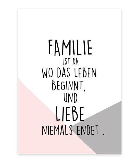 A4 Artprint/Kunstdruck *Familie*