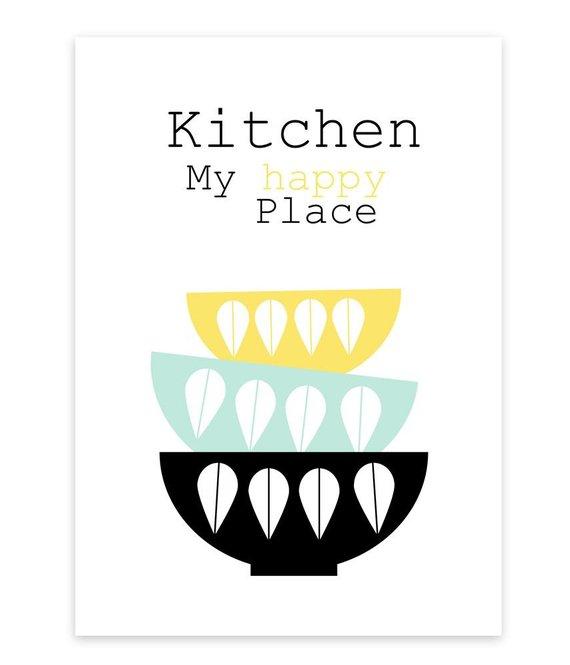 A4 Artprint * Kitchen.. My happy Place *