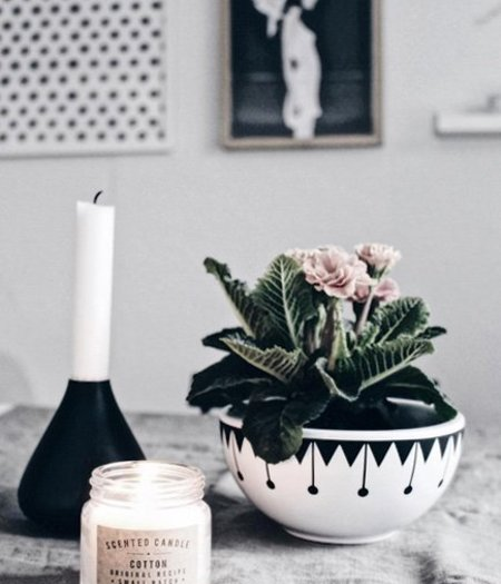 Keramik Pflanzschale Retro