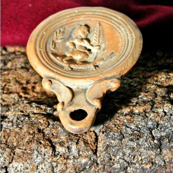 Lampada ad olio romana Cleopatra