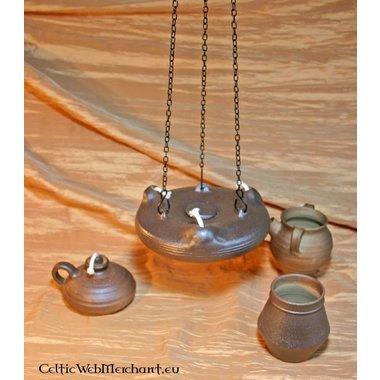 Lampada ad olio di ceramica