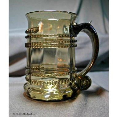 Chope de bière, en verre